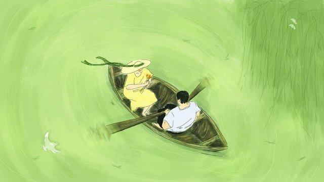 tanabata festival couples dating lake boating llustration image illustration image
