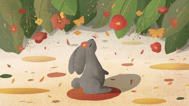 Cute pet rabbit animal illustration, Rabbit, Animal, Illustration illustration image