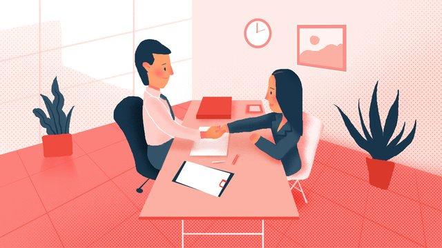 Recruitment interview business office illustration llustration image illustration image