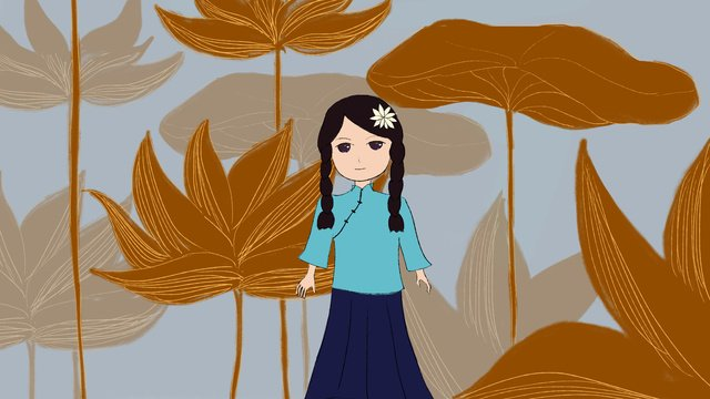 student girl in the republic of china llustration image illustration image