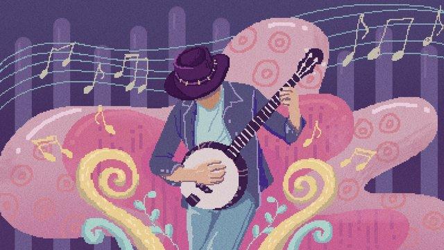 Retro texture music festival illustration, Retro Texture, Retro, Texture illustration image