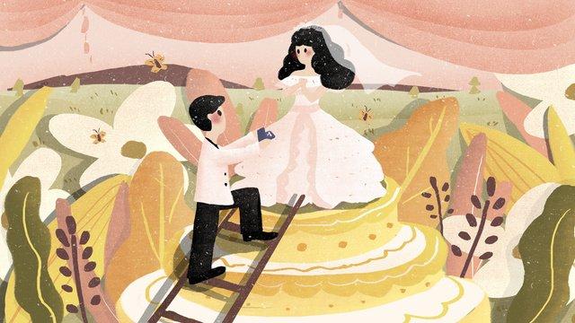 romantic wedding season married couple illustration llustration image illustration image