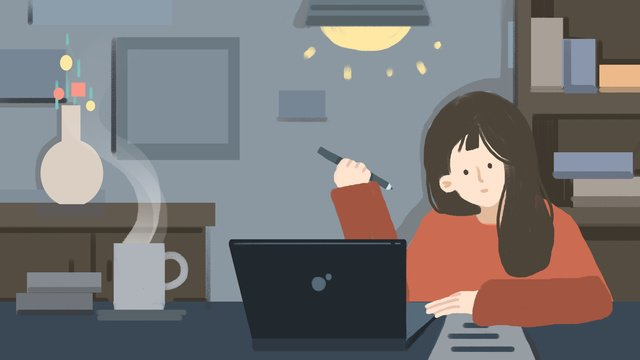 Люди которые работают ночью спокойно пишут под лампой Ресурсы иллюстрации