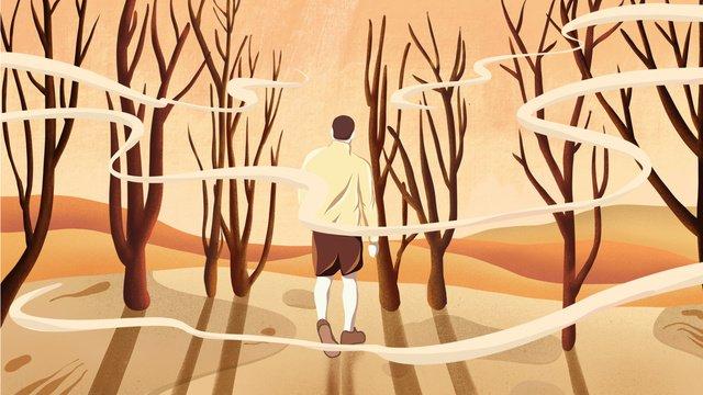 september hello walking in the man hand drawn poster illustration wallpaper llustration image illustration image
