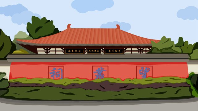 ancient architecture llustration image