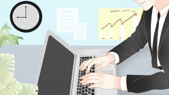 nhân viên văn phòng đơn giản và tươi mới Hình minh họa Hình minh họa