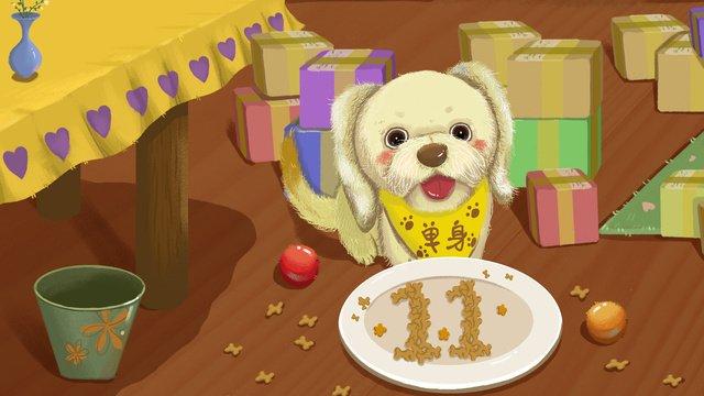 Оригинальная иллюстрация singles single dog food Ресурсы иллюстрации