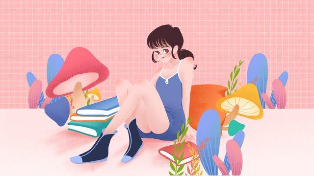 Singles life single girl illustration, Singles Day, Single, Live Alone illustration image