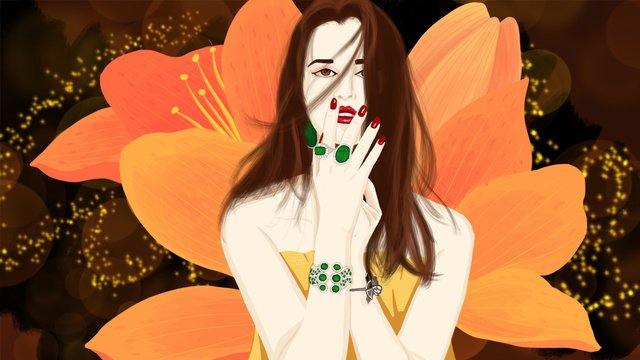 in the night of sleep wonderland free sea otter flower goddess floats alone llustration image illustration image
