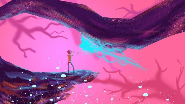 mộng du thần tiên wonderland fantasy Hình minh họa