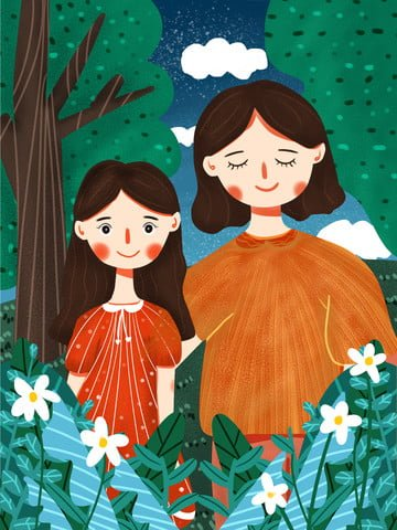 international childrens day mother playing with little girl llustration image illustration image