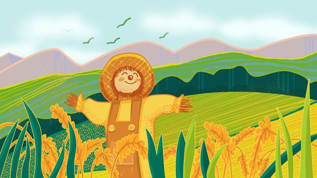 Chinas first farmers harvest festival strokes illustration, Social Life, Harvest Festival, Farmer illustration image