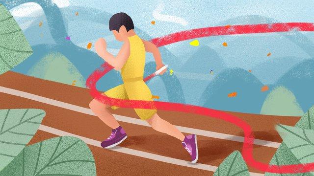 Thể thao minh họa ban đầu tươiCuộc  Họp  Thể PNG Và PSD illustration image