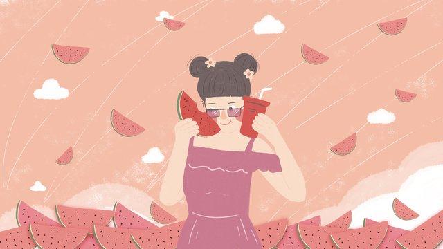 original illustration   summer girl llustration image illustration image