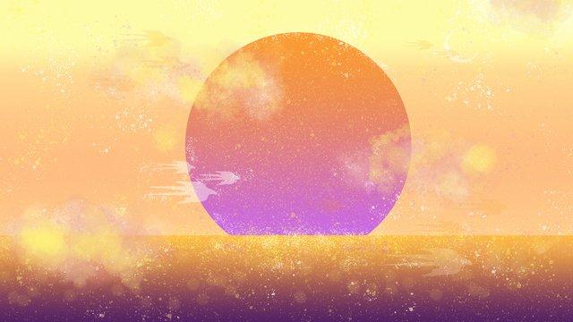 tinh vân neon skyline sunrise kết cấu Hình minh họa Hình minh họa