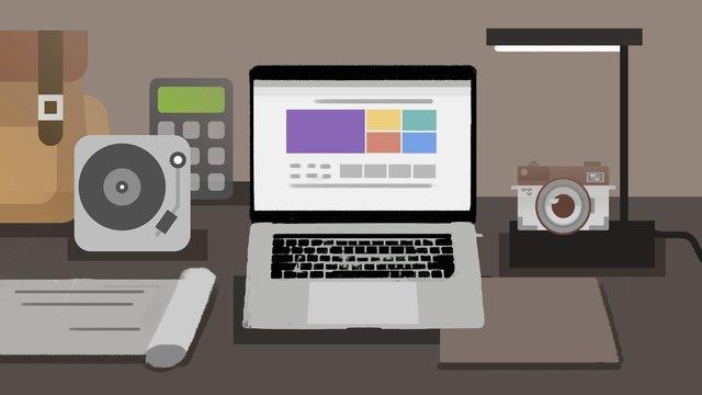 Ночной рабочий стол прокрутки веб страницы компьютера Ресурсы иллюстрации Иллюстрация изображения