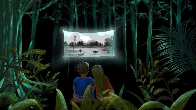 Romantic tanabata childhood memories, Tanabata, Lover, Outdoor Movie illustration image