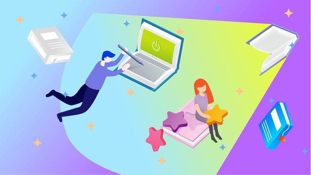 技術教育読書人生のベクトル図テクノロジー  教育  読み物 PNGおよびベクトル illustration image