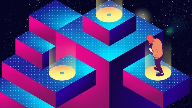 technology future 25d sense gradient illustration llustration image illustration image