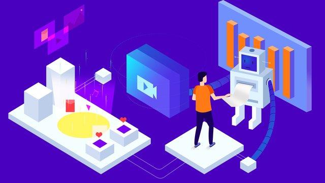 business office technology future llustration image illustration image
