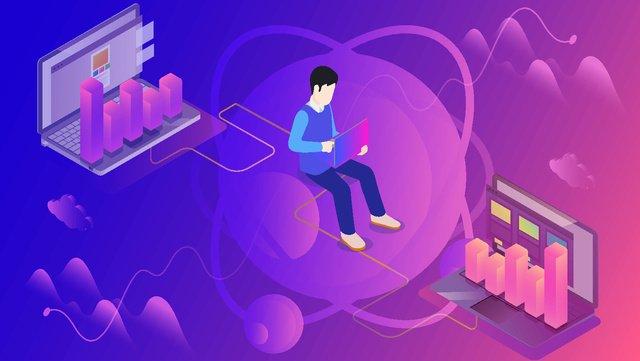 इंटरनेट प्रौद्योगिकी चित्रण चित्रण छवि
