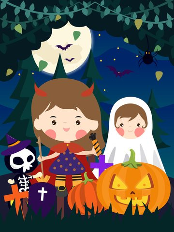 little devils halloween sugar carnival night llustration image