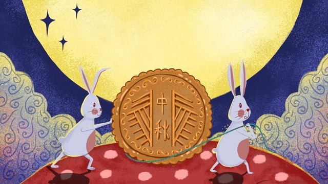 simple fresh and lovely traditional festival mid autumn illustration llustration image