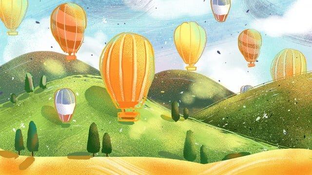 癒しのトルコ熱気球オリジナルイラスト イラスト素材 イラスト画像