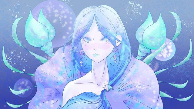 twelve constellation cancer girl ocean dewi blue dream imej keterlaluan