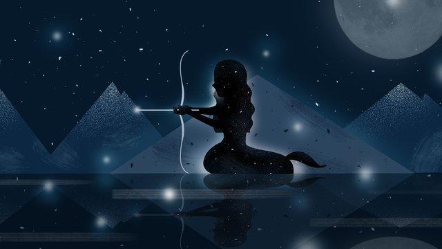twelve constellation sagittarius dream original illustration llustration image