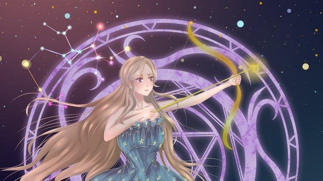 a constelação da do zodíaco Material de ilustração Imagens de ilustração