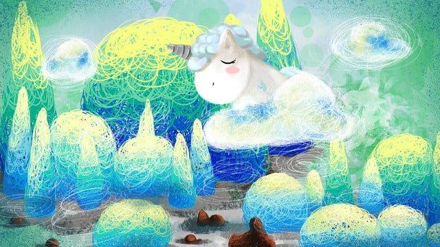गेंडा प्यारा पालतू कार्टून कुंडल छाप चित्रण छवि चित्रण छवि
