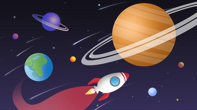 宇宙探査、宇宙船、火星 イラスト素材 イラスト画像