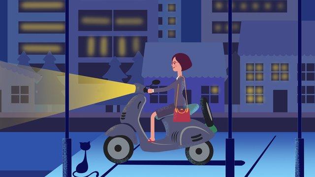 शहरी जीवन चित्रण छवि चित्रण छवि