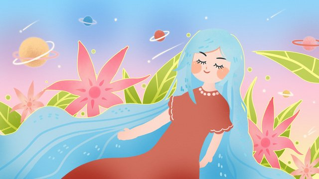 virgo 12 constellation starry sky universe divination astrology water reverse llustration image illustration image