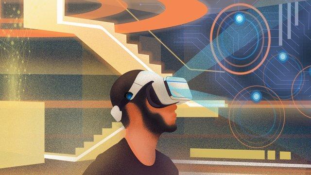 vr технологии виртуальной реальности мир иллюстрации Ресурсы иллюстрации Иллюстрация изображения