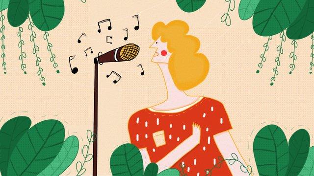 midnight city music girl Пение Иллюстрация Ресурсы иллюстрации Иллюстрация изображения