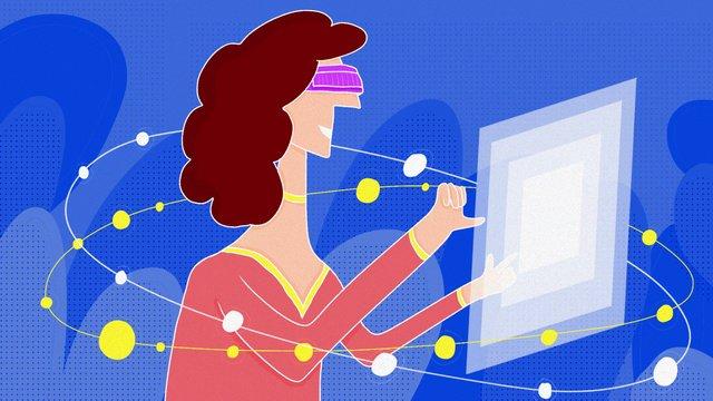 midnight city girl vr star high tech illustration ภาพ