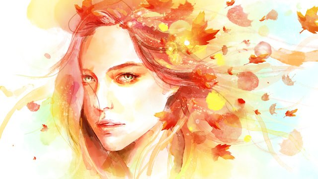 original illustration beautiful watercolor autumn llustration image illustration image