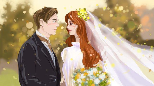 mùa cưới thu đám minh họa gốc Hình minh họa Hình minh họa