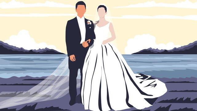 イラスト結婚式シーズン結婚式のシーン イラスト素材