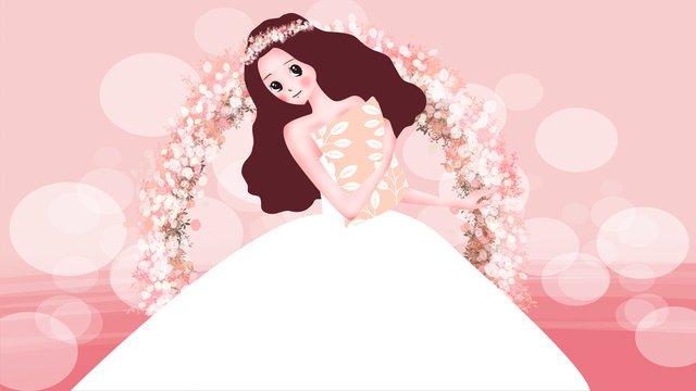 結婚式の季節結婚式の花嫁のシーン イラスト素材