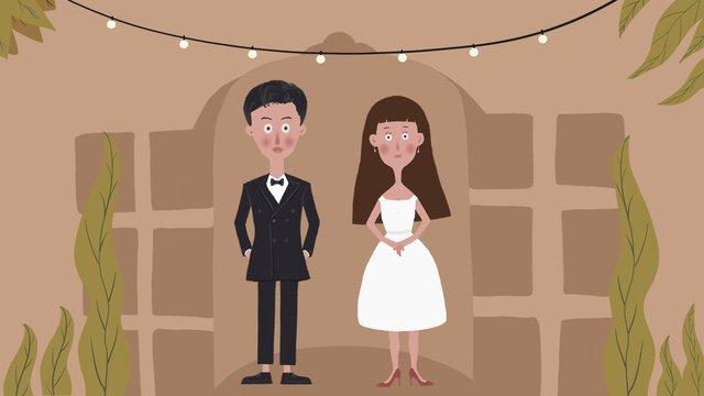 mùa cưới cảnh chúng tôi đã kết hôn minh họa ban đầu Hình minh họa Hình minh họa