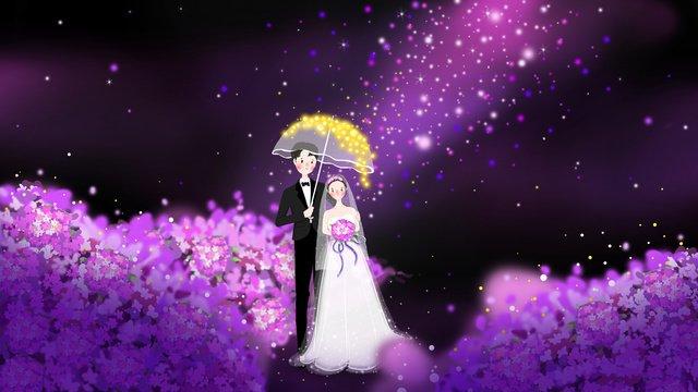 結婚式の季節の結婚式のシーンの図 イラスト素材 イラスト画像