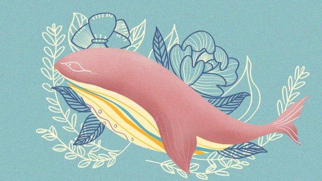 Deep sea whale warm vintage business illustration small fresh, Whale, Warm, Small Fresh illustration image
