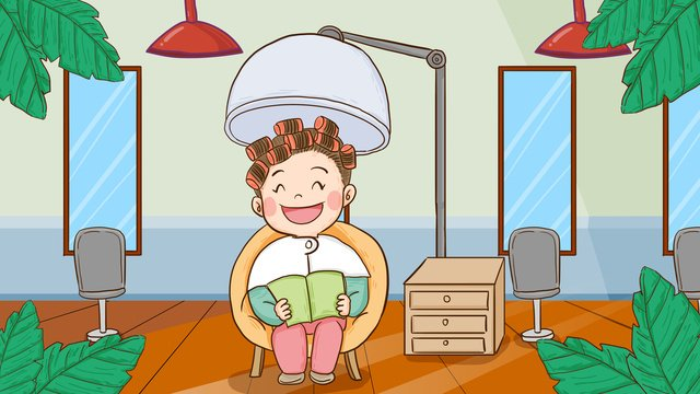 World beauty day girl salon vẽ tay minh họa gốcNgày  Làm  đẹp PNG Và PSD illustration image
