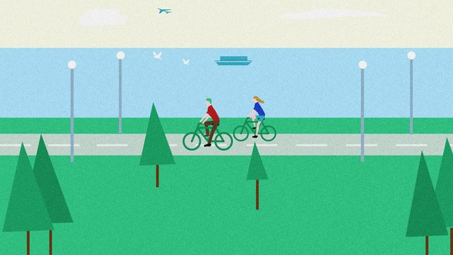 World Clean Earth Day green Environmental protection Travel, Bicycle, Ship, Aircraft illustration image