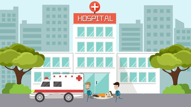 simple and fresh flat wind world first aid day ambulance emergency scene illustration llustration image
