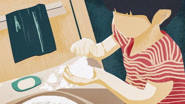 世界手洗い日子供手を洗うレトロな質感のイラスト イラスト素材 イラスト画像