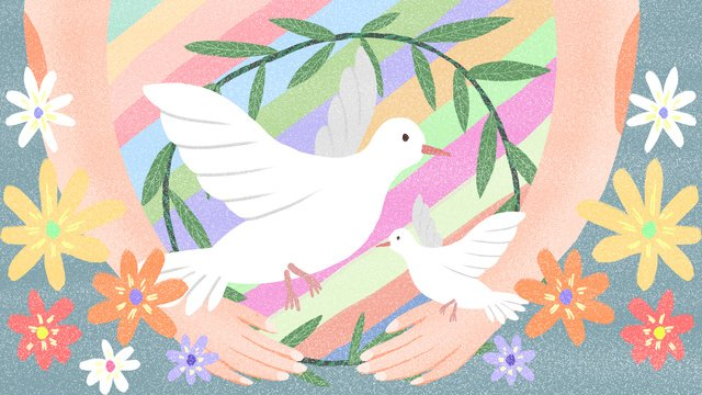 世界平和デー世界は戦争に反対 イラスト素材